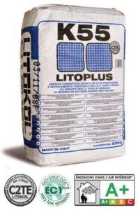 LITOPLUS K55 - цементный белый клей