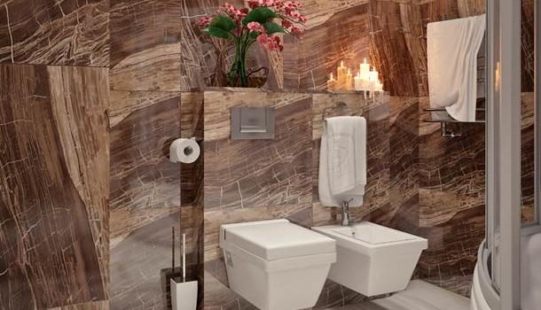 Качественные стены из мрамора